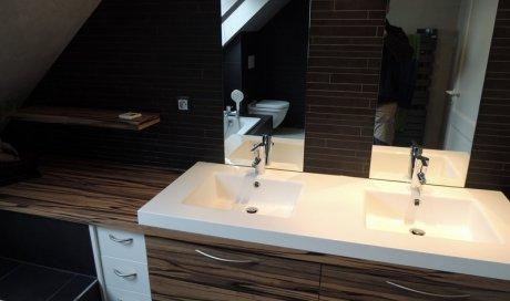 Pose et installation de meuble de salle de bain sur-mesure à Strasbourg